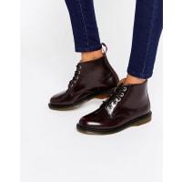 Dr. MartensKensington Emmeline 5-Eye Cherry Boots - Red