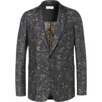 Dries Van NotenLinen And Cotton-blend Jacquard Suit Jacket - Blue
