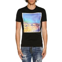 Dsquared2American Road Trip Photograph-Print T-Shirt, Black