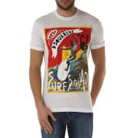 Dsquared2T-Shirts für Herren, TShirts Günstig im Outlet Sale, Weiss, Baumwolle, 2016, L XL