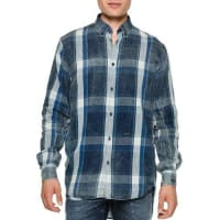 Dsquared2Chambray Plaid Button-Down Shirt, Blue