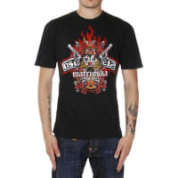 Dsquared2T-shirt in Cotone MATRIOSKA Dean&Dan stampata Autunno-Inverno