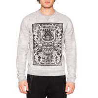 Dsquared2D2 Fighter Crewneck Graphic Sweatshirt, Gray