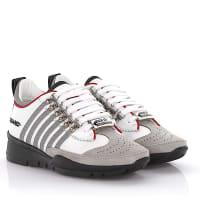 Dsquared2Dsquared2 Keilsneakers 251 Leder weiß Nubukleder grau