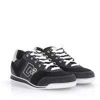 Dsquared2Dsquared2 Sneakers Winner Veloursleder grau schwarz Hightech-Jersey schwarz