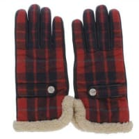 Dsquared2Leather and Wool Blend Checked Gloves Herbst/Winter
