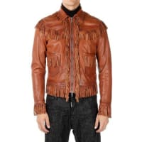 Dsquared2Leather Jacket with Fringes Herbst/Winter