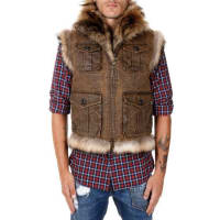 Dsquared2Racconn fur Gilet Herbst/Winter