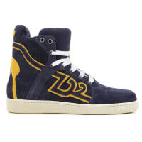 Dsquared2Sneakers for Men On Sale in Outlet, Navy Blue, Suede leather, 2016, 7 7.5 7.75 8 8.5
