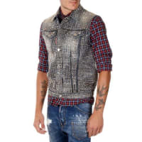 Dsquared2Studded Denim Vest Herbst/Winter