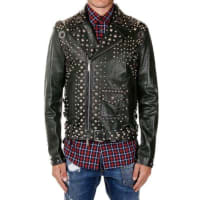 Dsquared2Studded Leather Jacket Herbst/Winter