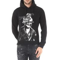 Dsquared2Sweatshirt for Men On Sale, Black, Cotton, 2016, S XL XXL