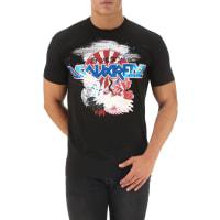 Dsquared2T-Shirt for Men On Sale, Black, Cotton, 2016, L XXL