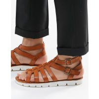 Dune LondonLeather Sandals In Tan - Tan