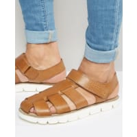 Dune LondonLeather Sandals In Tan - Tan