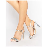 Dune LondonMya Jewel Embellished Sandals - Silver leather