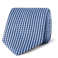 Dunhill7.5cm Mulberry Silk-jacquard Tie - Blue