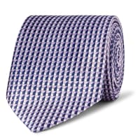 Dunhill7.5cm Mulberry Silk-jacquard Tie - Lilac