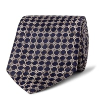 Dunhill8.5cm Mulberry Silk-jacquard Tie - Midnight blue