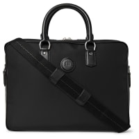 DunhillGuardsman Leather-trimmed Canvas Bag - Black