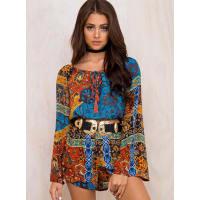 ebonie n ivoryWomens Ebonie N Ivory Mimosa Shorts Blue/Orange 6