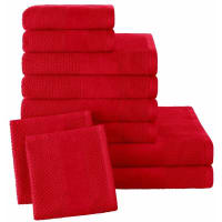 EcorepublicSet van 10 effen handdoeken in badstof 450g/m² ECOREPUBLIC