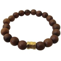 Electric PicksFlap Wood Mens Bracelet
