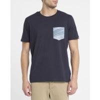 ElementBlaues T-Shirt Sunny mit Brusttasche