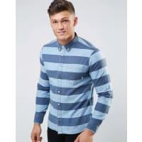 ElementGestreiftes Hemd mit Tasche - Blau