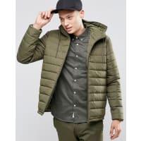 ElementHayden Hooded Quilt Jacket Moss Green - Green