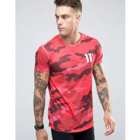Eleven DegreesT-Shirt In Camo - Red