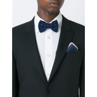 Eleventyknitted bow tie, Mens, Blue