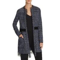 Elie TahariKora Tweed Open-Front Jacket