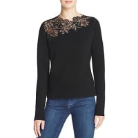 Elie TahariSamantha Lace Panel Sweater