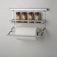 EliteKitchen Wall Storage - Spice Condiments Rack and Paper Towel Holder - 315mm