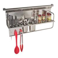 EliteStainless Steel Kitchen Wall Organiser Spice Rack, 700mm