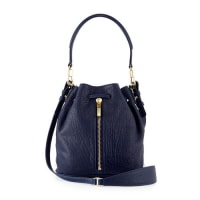 Elizabeth & JamesCynnie Mini Large-Grain Bucket Bag, Dark Denim