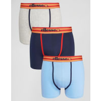 Ellesse3 Pack Striped Waist Trunks - Navy