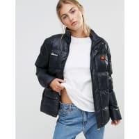 EllesseOversized Heavy Padded Jacket - Black