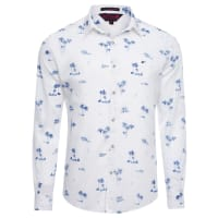 EllusCamisa Masculina Tropical Palms Classic French - Branco