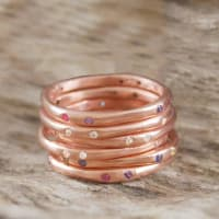 Embers JewelleryRose Gold Assorted Birthstone Stacking Ring
