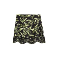 Emilio PucciDrape-Skirt aus Seiden-Twill mit Print und Lochspitze