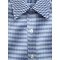 Emma WillisNavy Oxford Check Swiss Cotton Shirt