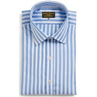 Emma WillisSky Butcher Stripe Swiss Cotton Shirt