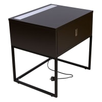 Emma's DesignIlluminate Bedside Table, Black