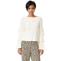 endless roseEndless Rose Ruffle Sleeve Sweater - White