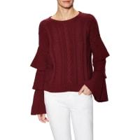 endless roseRuffled Layer Sleeve Sweater