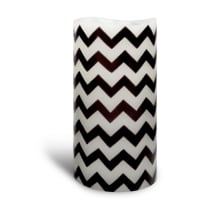Enjoy LightingFlameless Candle LED Wax Chevron Graphite Medium - Enjoy Lighting