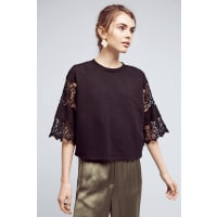 Eri + AliCropped Lace Sweatshirt