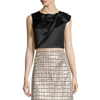 Erin FetherstonBeau Twisted Bow Crop Top